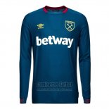 Camiseta West Ham Segunda Manga Larga 2018-2019