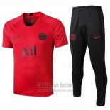 Chandal del Paris Saint-Germain Manga Corta 2019-2020 Rojo