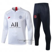 Chandal del Paris Saint-Germain 2019-2020 Blanco