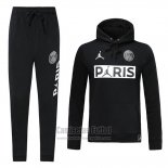 Chandal con Capucha del Paris Saint-Germain Jordan 2019-2020 Negro