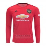 Camiseta Manchester United Authentic Primera Manga Larga 2019-2020