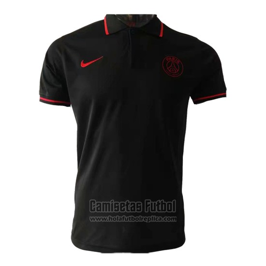 Camiseta Polo del Paris Saint-Germain 2019-2020 Negro
